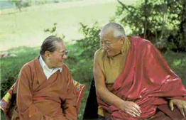 Picture of Dudjom Rinpoche and Dilgo Khyentse Rinpoche in Dordogne France